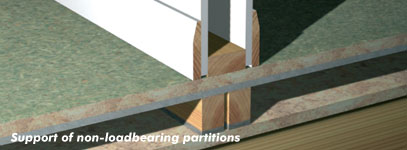 Support of non-loadbearing partitions